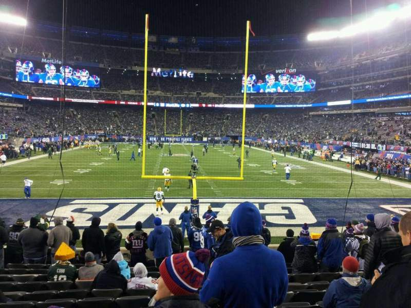 Seating view for MetLife Stadium Section 101 Row 14 Seat 16
