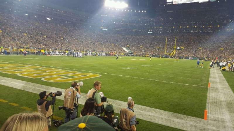 Seating view for Lambeau Field Section 106 Row 2 Seat 9