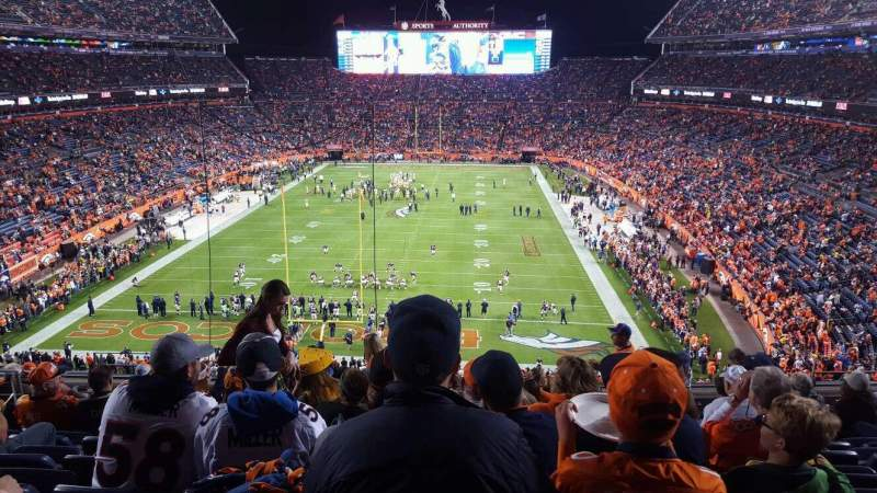 Seating view for Sports Authority Field at Mile High Section 322 Row 12 Seat 14