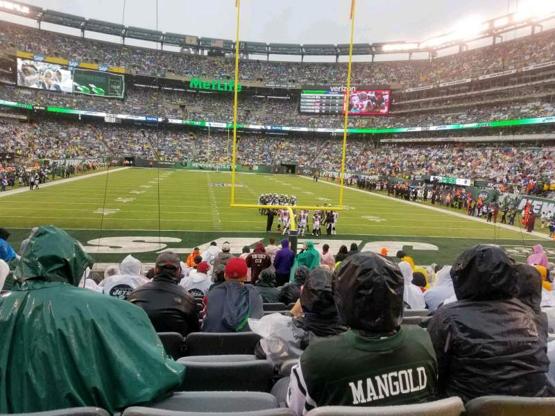 Seating view for MetLife Stadium Section 101 Row 15 Seat 21