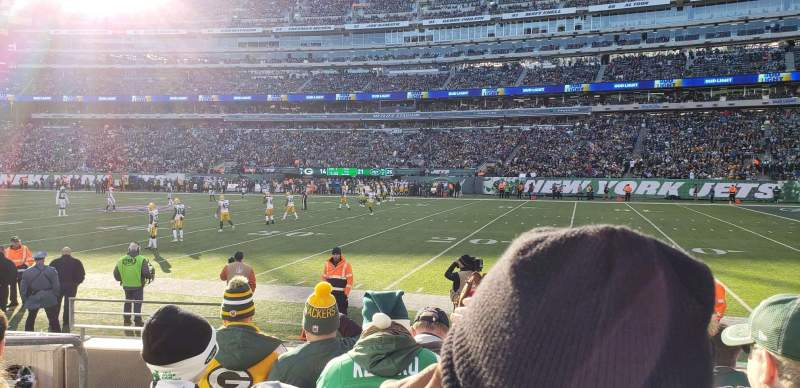 Seating view for MetLife Stadium Section 110 Row 5 Seat 14