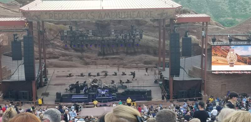 Seating view for Red Rocks Amphitheatre Section Center Row 48 Seat 93 and 94