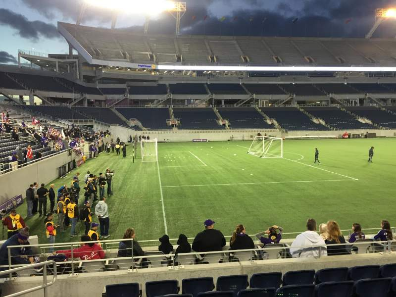 Seating view for Camping World Stadium Section 113 Row K Seat 12