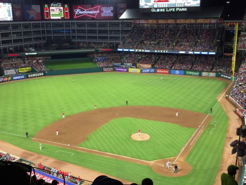 Seating view for Globe Life Park in Arlington Section 323 Row 13 Seat 21