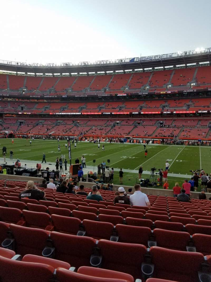 Seating view for FirstEnergy Stadium Section 111 Row 18 Seat 14