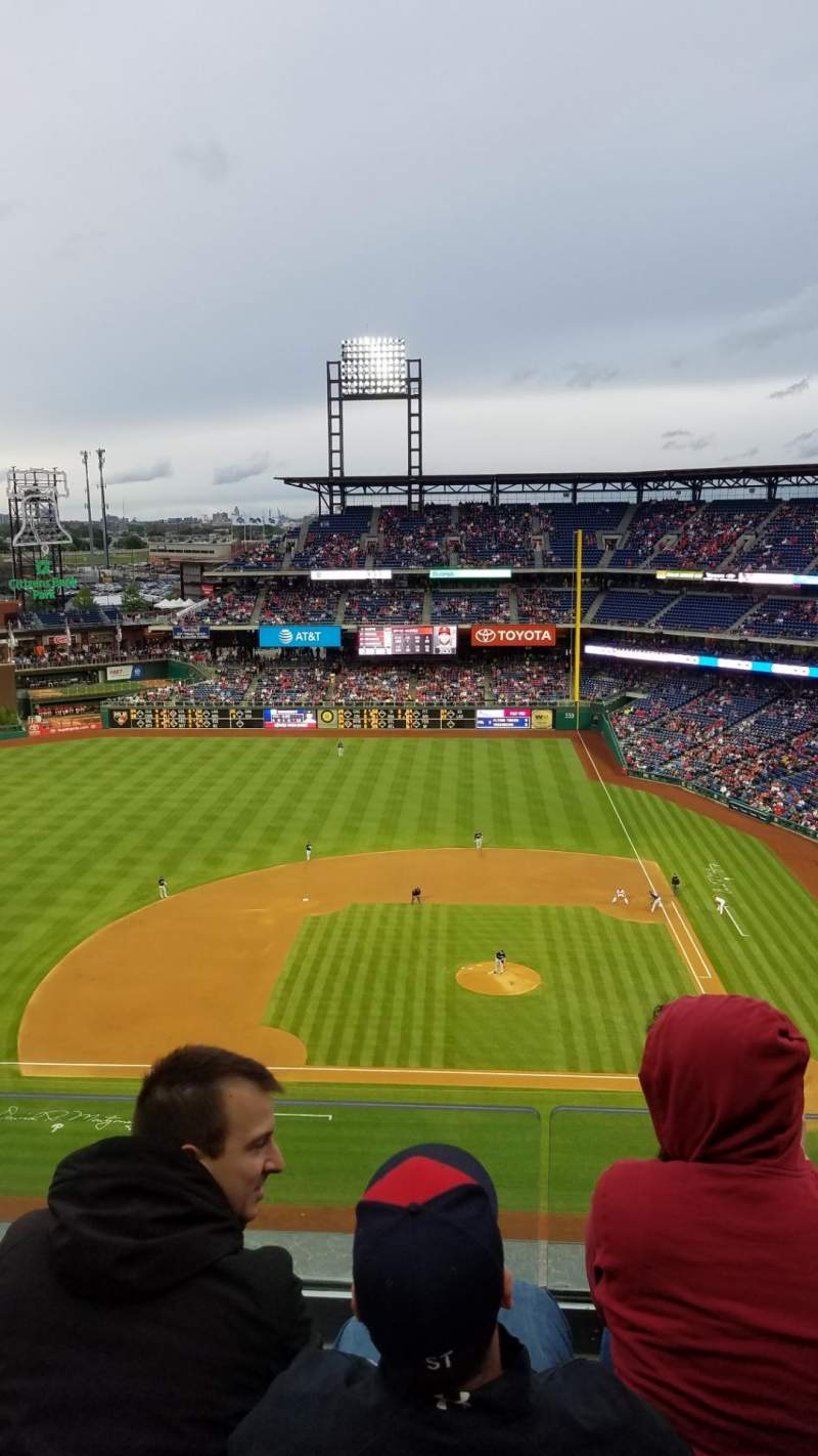 Seating view for Citizens Bank Park Section 425 Row 3 Seat 20