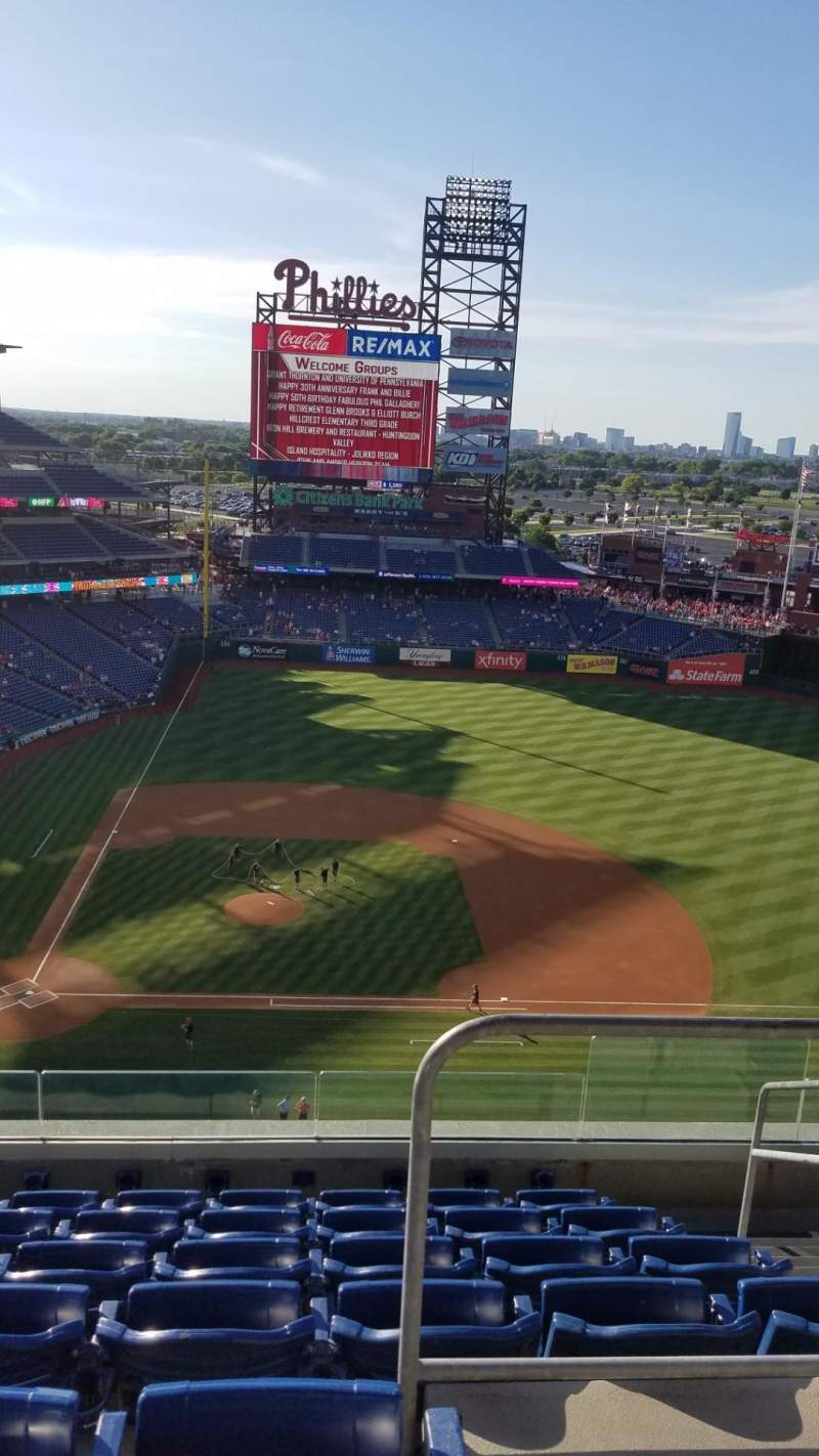 Seating view for Citizens Bank Park Section 416 Row 7 Seat 4
