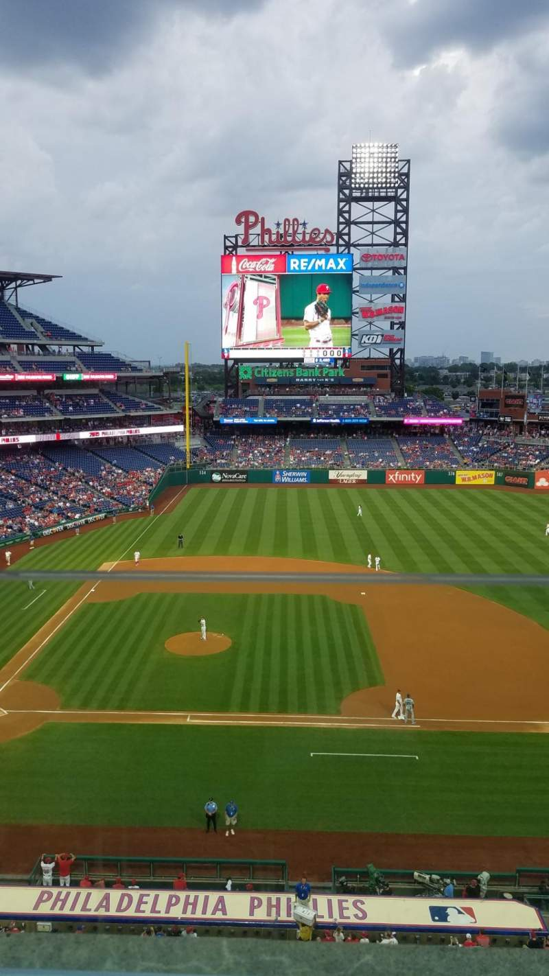 Seating view for Citizens Bank Park Section 315 Row 1 Seat 21