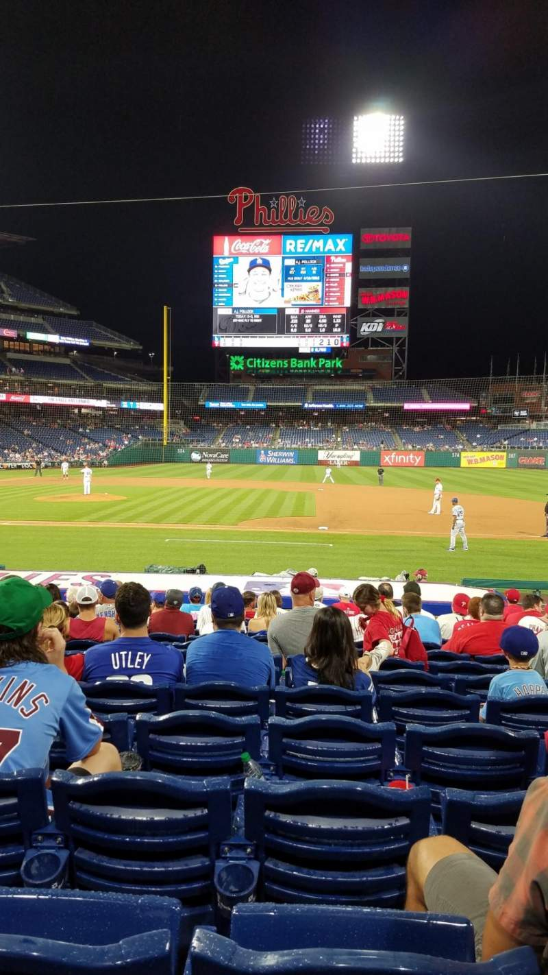 Seating view for Citizens Bank Park Section 116 Row 18 Seat 8