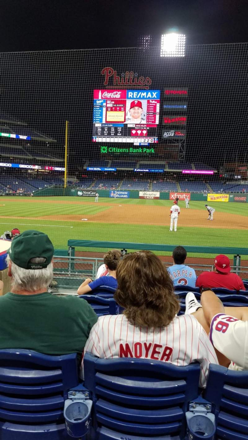 Seating view for Citizens Bank Park Section 116 Row 6 Seat 18