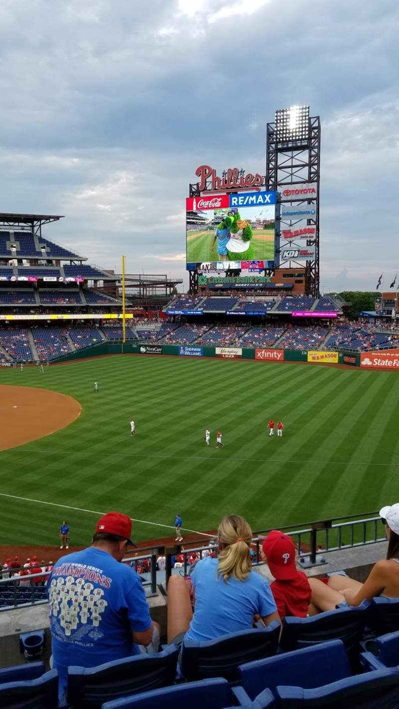 Seating view for Citizens Bank Park Section 209 Row 4 Seat 9