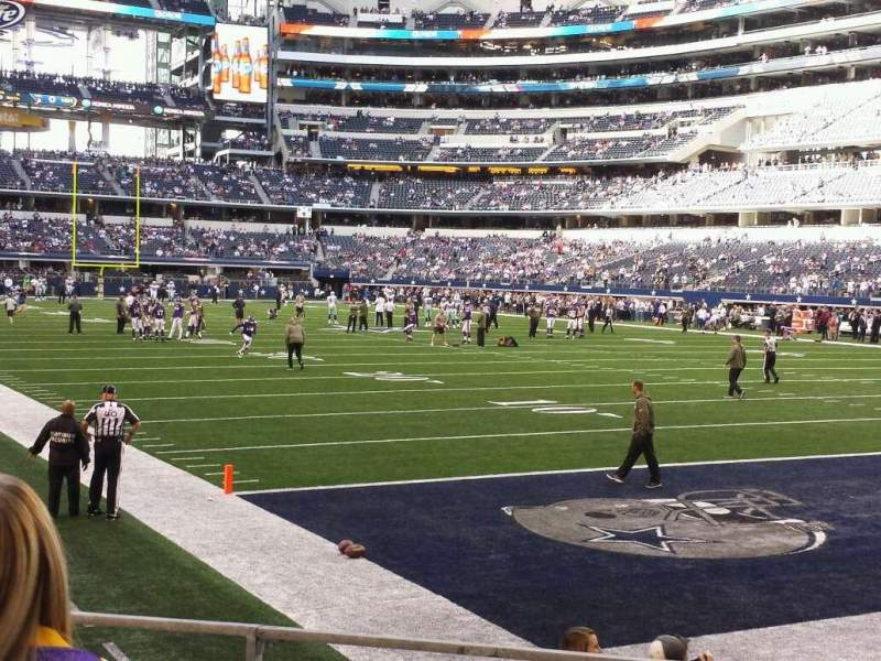 Seating view for AT&T Stadium Section 101 Row 3 Seat 12