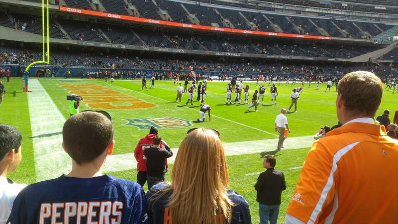 Seating view for Soldier Field Section 144 Row 3 Seat 1
