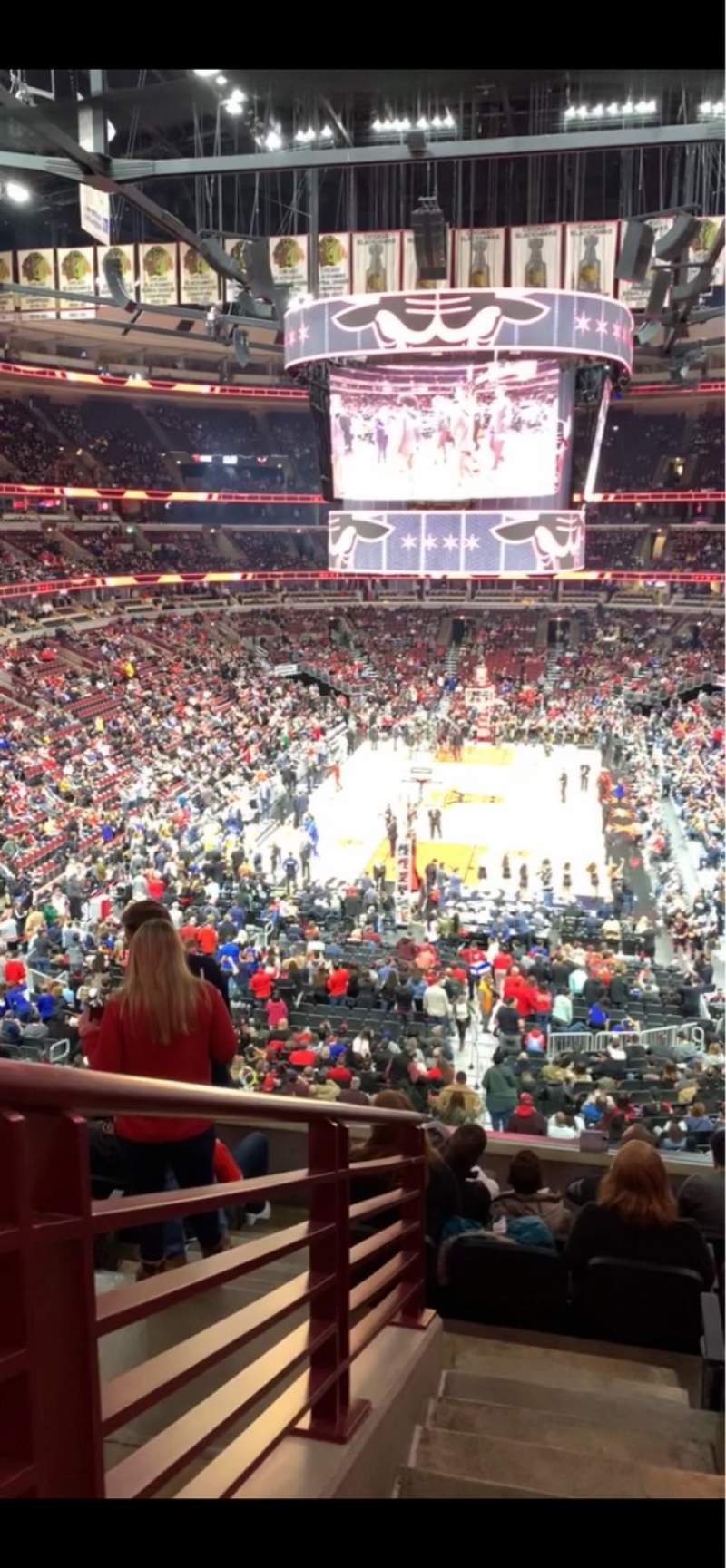 Seating view for United Center Section 225 Row 8 Seat 1