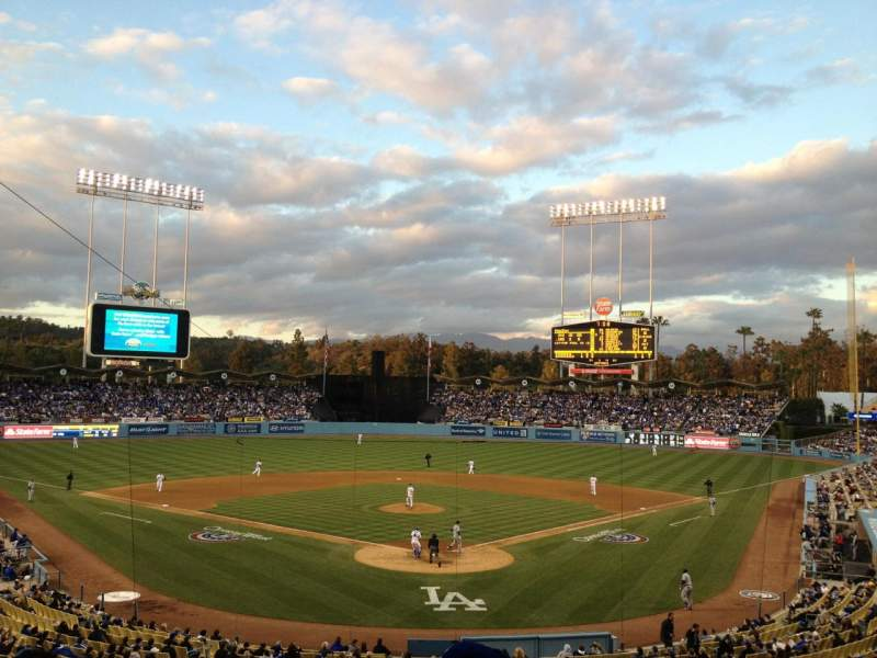 Seating view for Dodger Stadium Section Loge Row G Seat 1