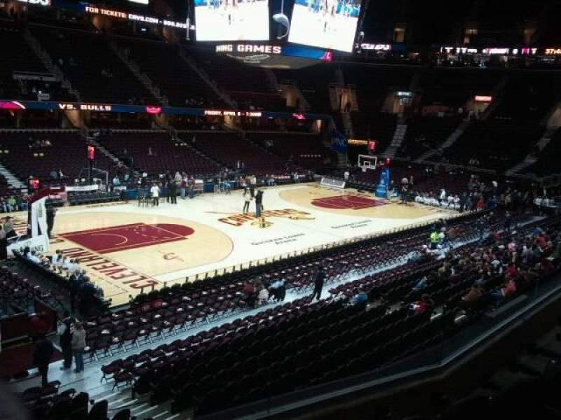 Seating view for Quicken Loans Arena Section 106 Row 24