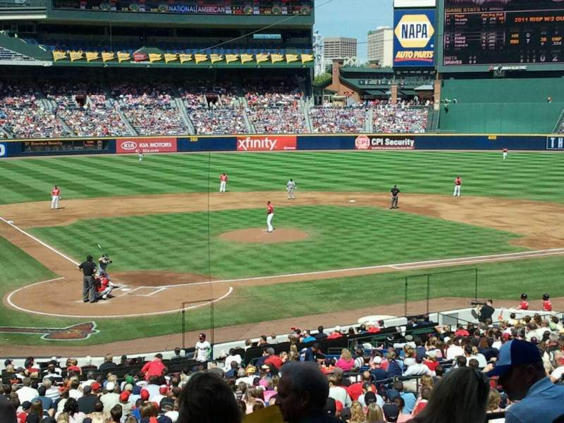 Seating view for Turner Field Section 203 Row 3 Seat 4