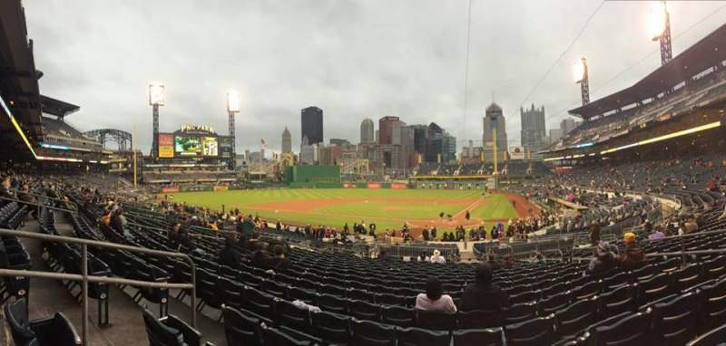 Seating view for PNC Park Section 120 Row S Seat 9