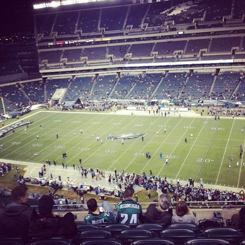 Seating view for Lincoln Financial Field Section 204 Row 11 Seat 22