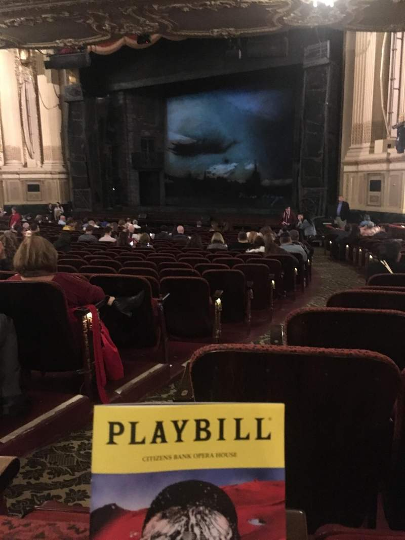 Seating view for Citizens Bank Opera House Section Orchestra Right Row T Seat 34
