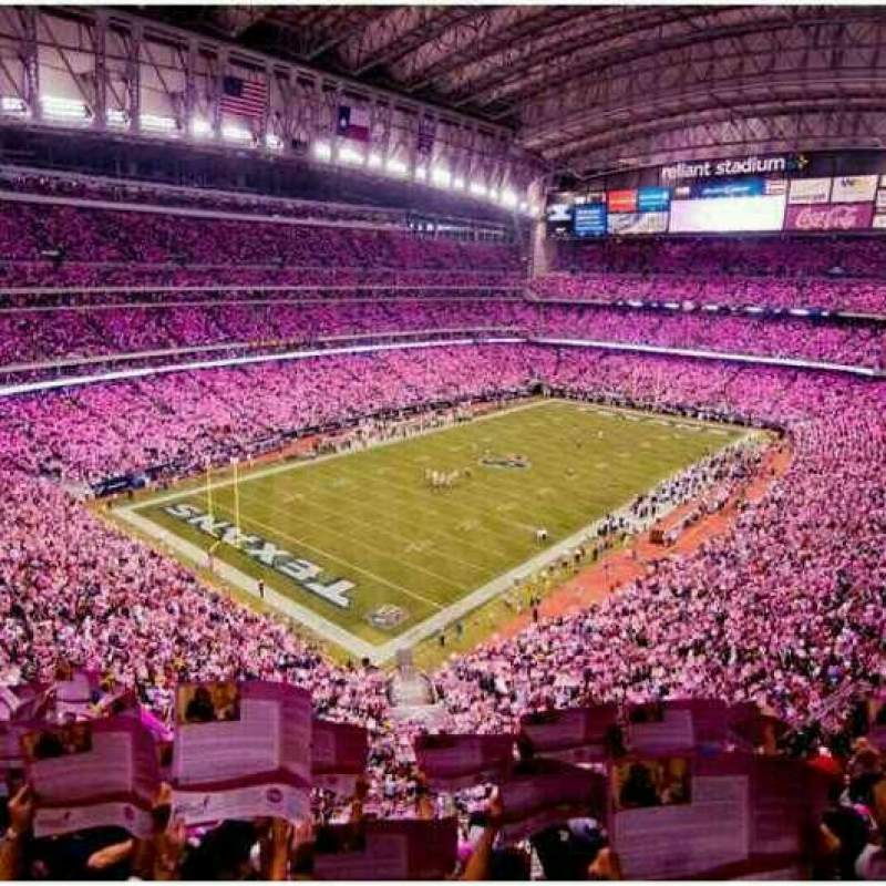Seating view for NRG Stadium Section 516 Row F Seat 10