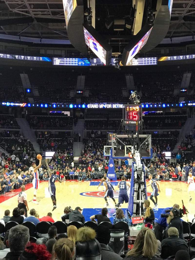 Seating view for The Palace of Auburn Hills Section 120 Row AA Seat 14
