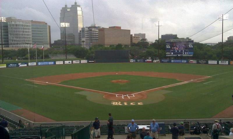 Seating view for Reckling Park Section Press Row