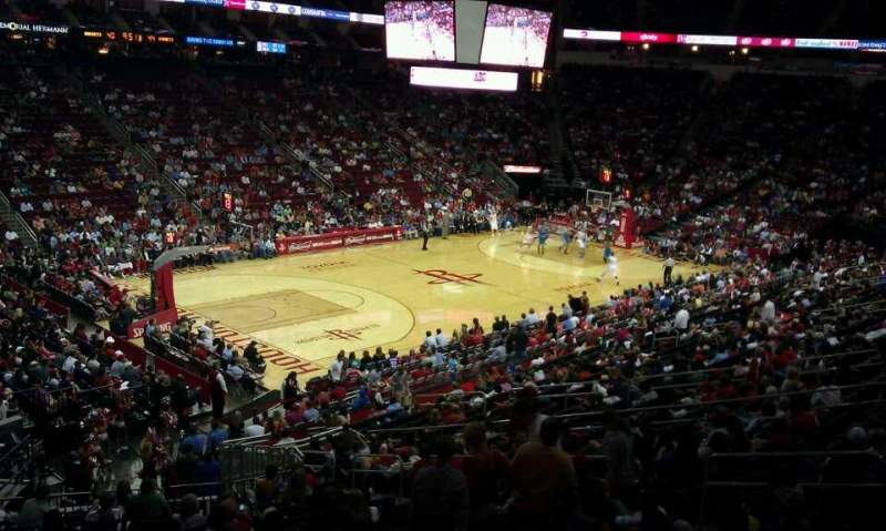 Seating view for Toyota Center Section 122 Row WC-25 Seat 9