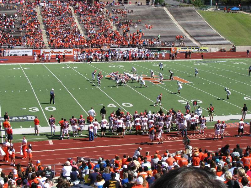 Seating view for Bowers Stadium Section G