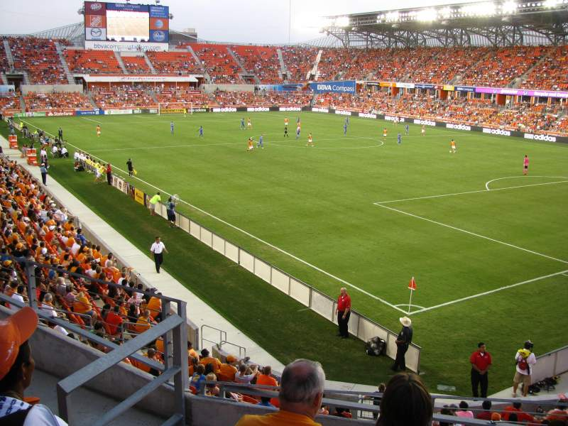Seating view for BBVA Compass Stadium Section 201 Row B Seat 4