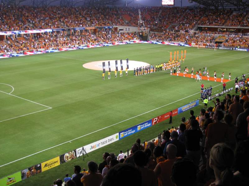 Seating view for BBVA Compass Stadium Section 210 Row K Seat 18