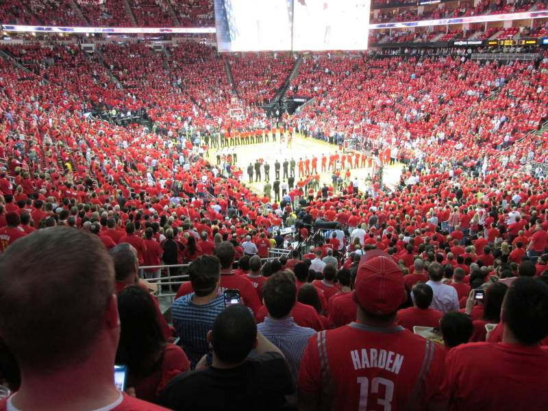 Seating view for Toyota Center Section 115 Row 27 Seat 19