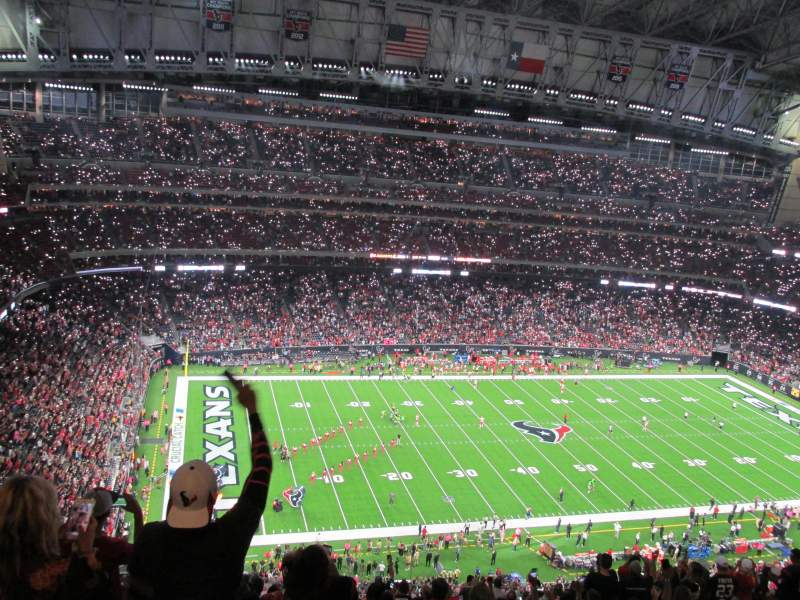 Seating view for NRG Stadium Section 612 Row S Seat 22