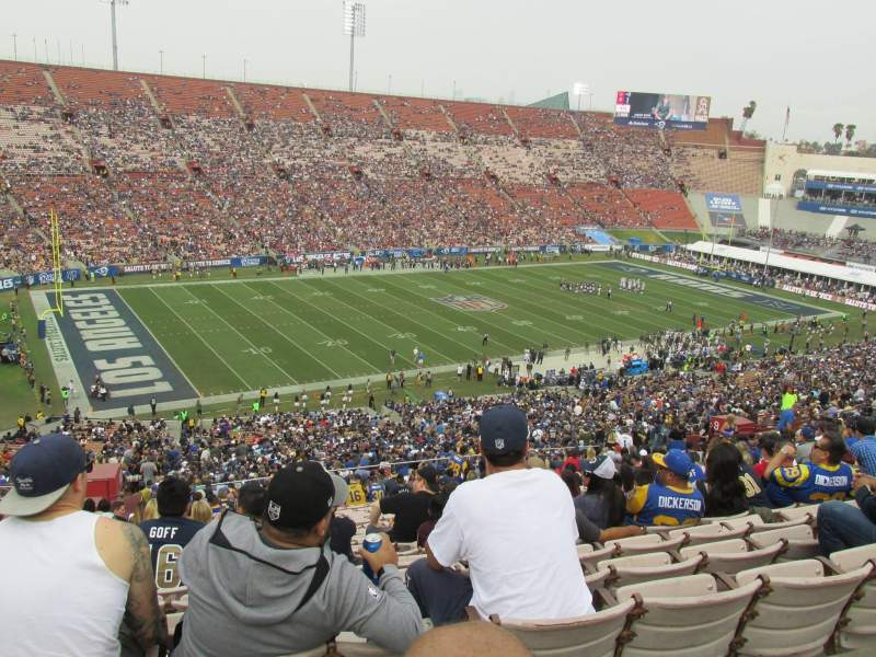 Seating view for Los Angeles Memorial Coliseum Section 10H Row 70 Seat 103
