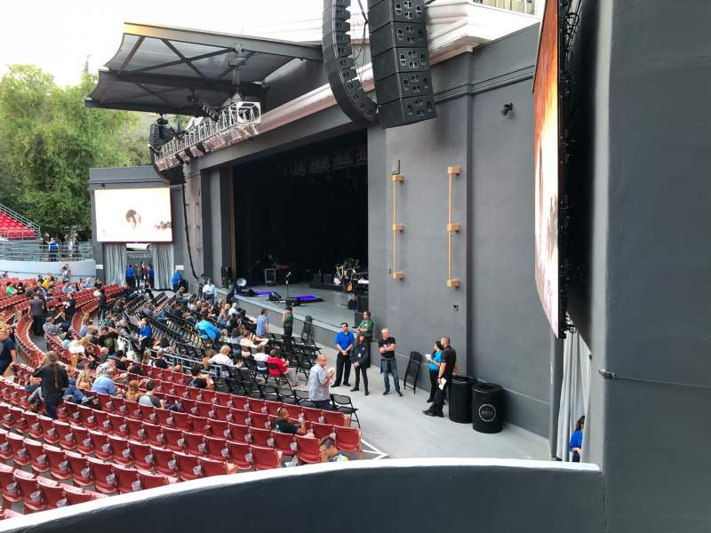 Seating view for The Greek Theatre Section Terrace Row AA Seat 16