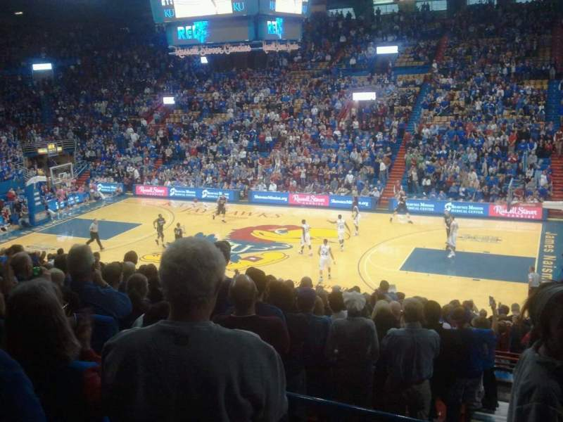 Seating view for Allen Fieldhouse Section 15 Row 15 Seat 20