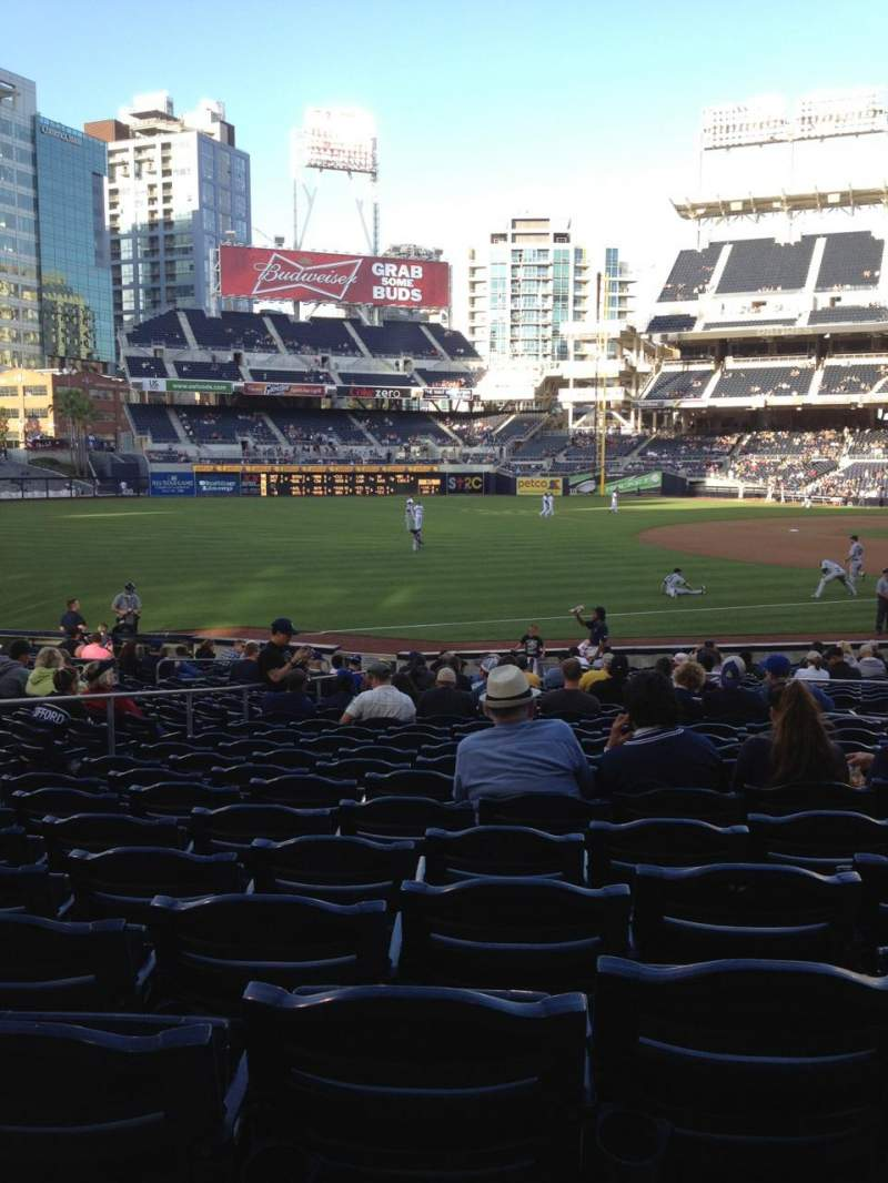 Seating view for Petco Park Section 118 Row 25 Seat 10