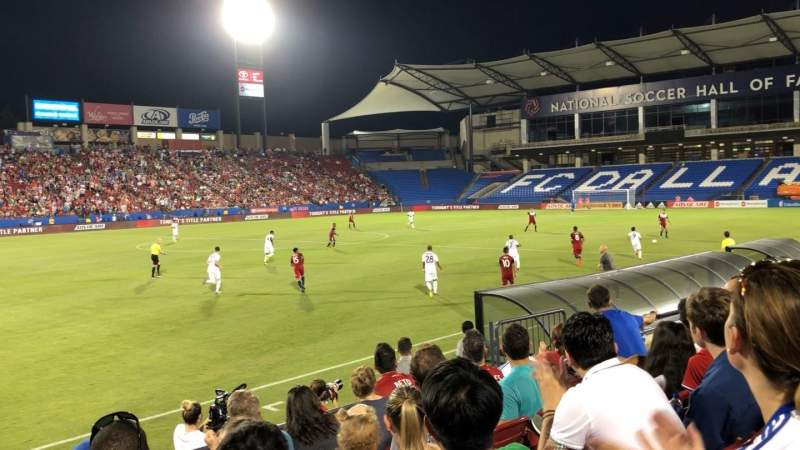 Seating view for Toyota Stadium Section 103 Row 6 Seat 12-14