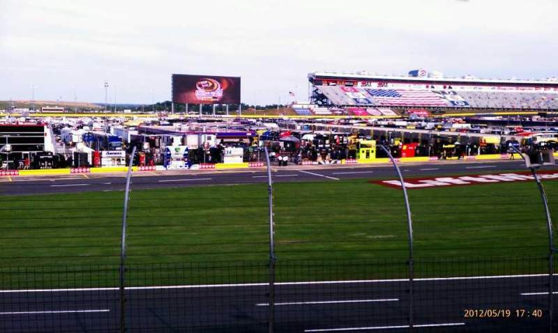 Seating view for Charlotte Motor Speedway Section Chrysler E Row 14 Seat 34