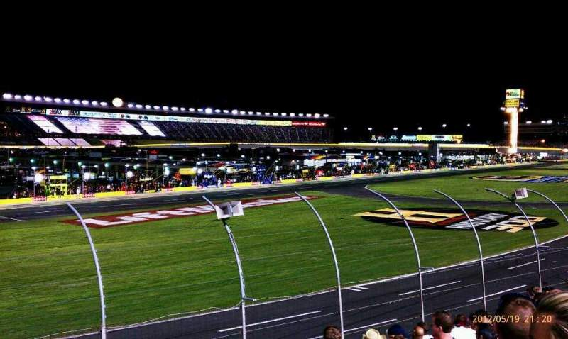 Seating view for Charlotte Motor Speedway Section Chrysler Row 14 Seat 35