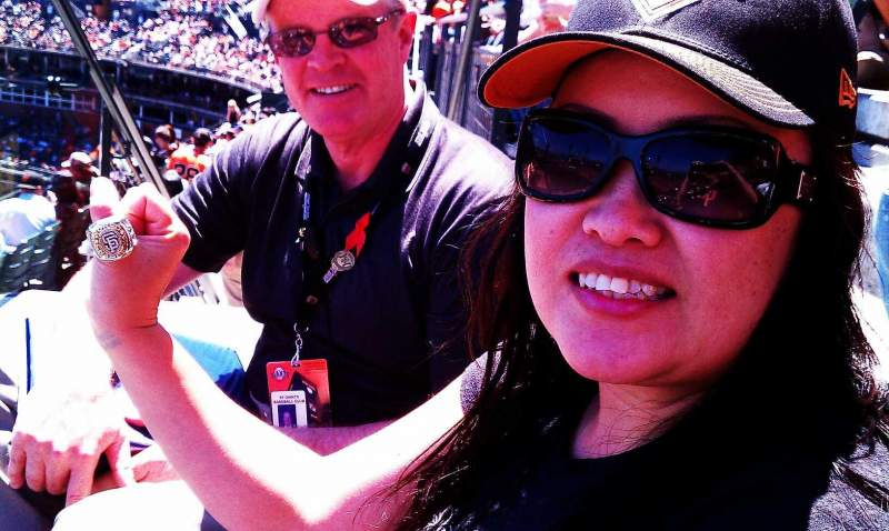Seating view for AT&T Park Section 326 Row 00 Seat 1