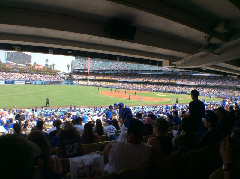 Seating view for Dodger Stadium Section 41FD Row X Seat 8