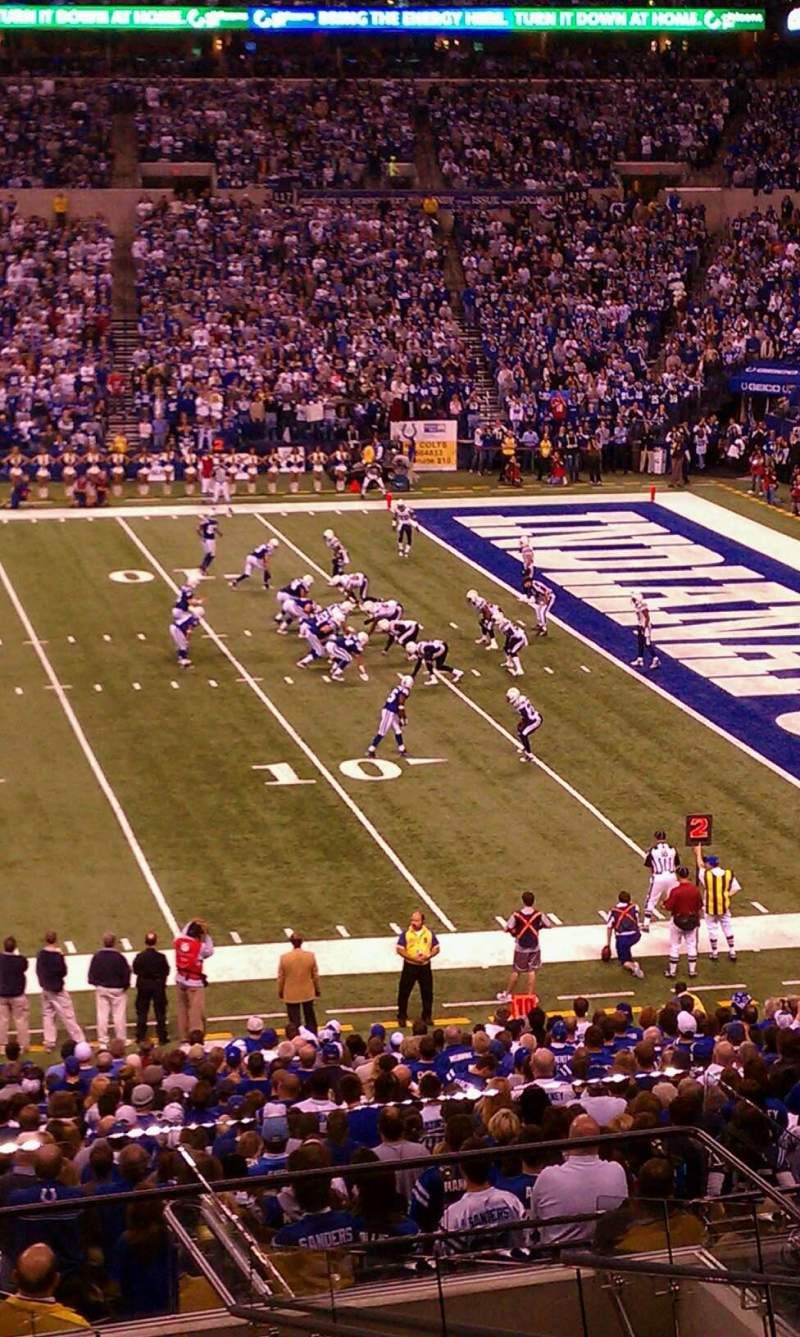 Seating view for Lucas Oil Stadium Section 238