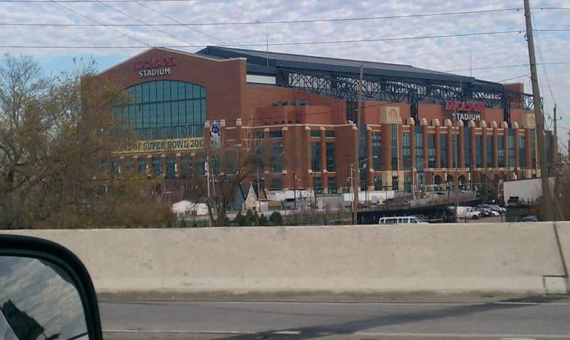 Seating view for Lucas Oil Stadium Section South Gate