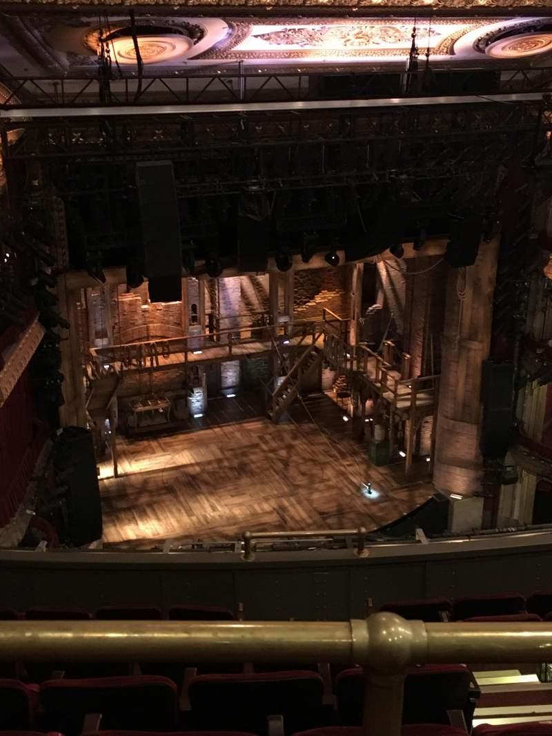 CIBC Theatre, section: Balcony L, row: H, seat: 3