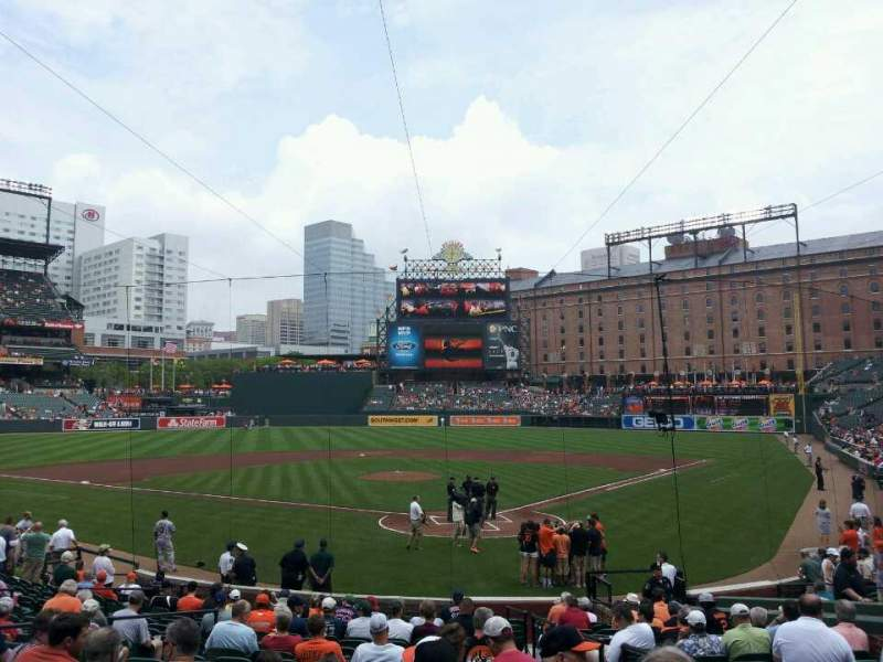 Seating view for Oriole Park at Camden Yards Section 40 Row 21 Seat 2