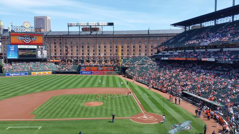 Seating view for Oriole Park at Camden Yards Section 246 Row 2 Seat 3