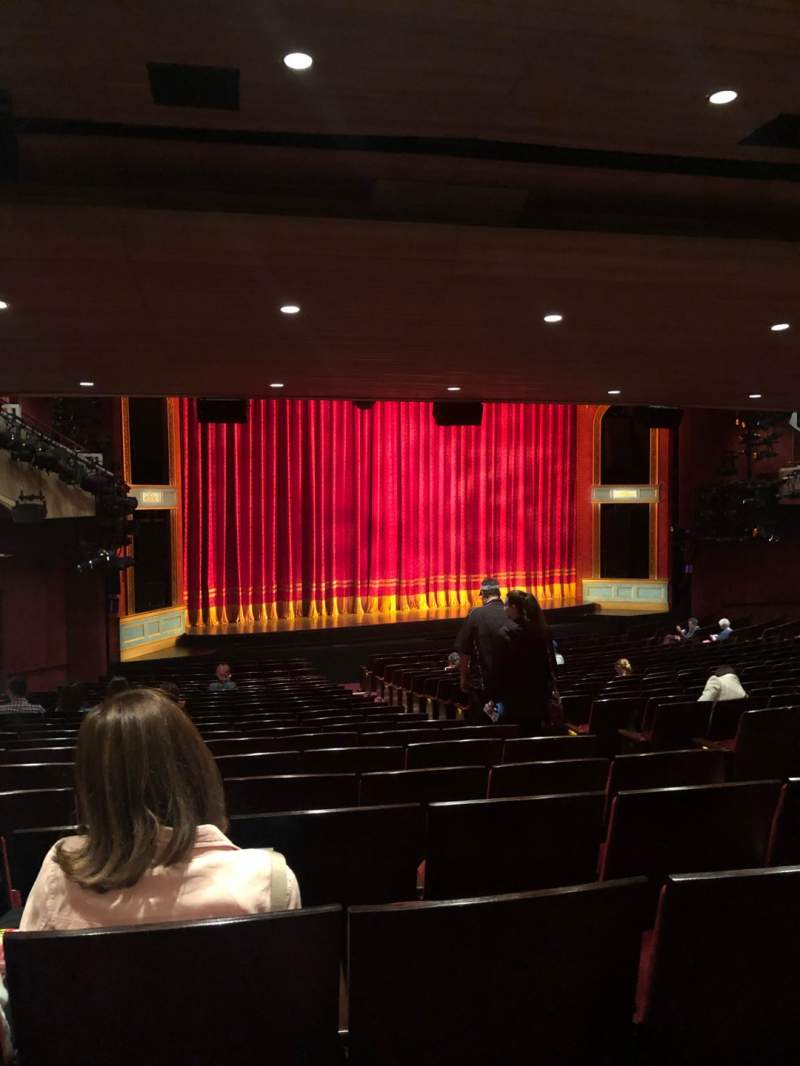 Seating view for Marquis Theatre Section Orchestra L Row X Seat 11