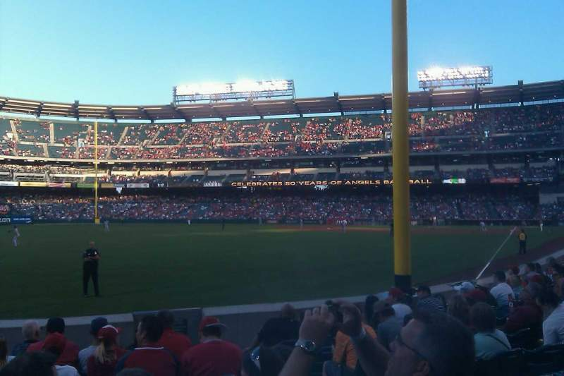 Seating view for Angel Stadium Section F102 Row H Seat 13