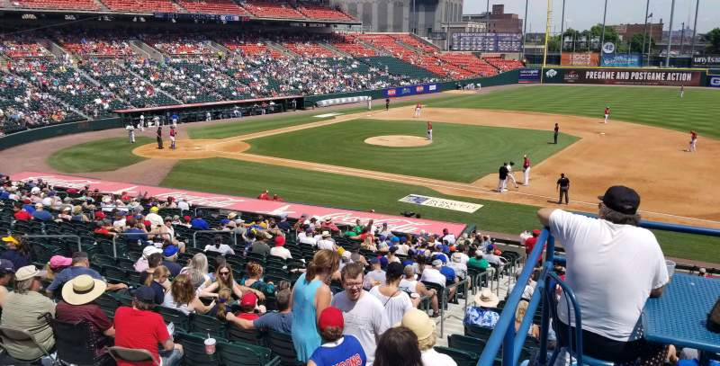 Seating view for Coca-Cola Field Section Labatt garden